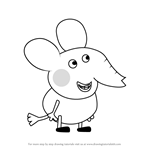 How to Draw Edmond Elephant from Peppa Pig