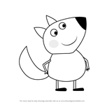 How to Draw Finn Fox from Peppa Pig