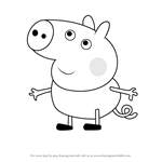How to Draw Floyd Pig from Peppa Pig