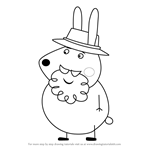 How to Draw Grampy Rabbit from Peppa Pig