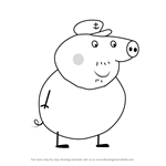 How to Draw Grandpa Pig from Peppa Pig