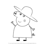 How to Draw Granny Pig from Peppa Pig