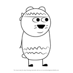 How to Draw Harry Hamster from Peppa Pig