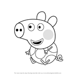 How to Draw Jase Pig from Peppa Pig