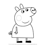 How to Draw Lindsey Pig from Peppa Pig