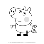 How to Draw Lloyd Pig from Peppa Pig