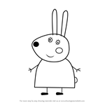How to Draw Miss Rabbit from Peppa Pig