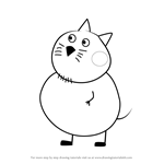 How to Draw Mr. Cat from Peppa Pig