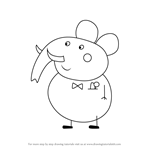 How to Draw Mr. Elephant from Peppa Pig