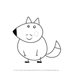 How to Draw Mr. Fox from Peppa Pig