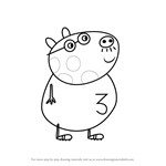 How to Draw Mr. Pony from Peppa Pig