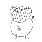 How to Draw Mr. Zebra from Peppa Pig
