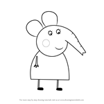 How to Draw Mrs. Elephant from Peppa Pig