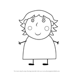 How to Draw Mummy McKenzie from Peppa Pig