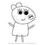 How to Draw Patty Pony from Peppa Pig