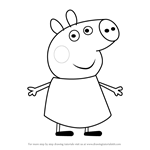 How to Draw Percival Pig from Peppa Pig