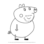How to Draw Uncle Pig from Peppa Pig