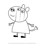 How to Draw Zuzu from Peppa Pig