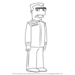 How to Draw Major Monogram from Phineas and Ferb