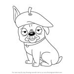 How to Draw Agent Francois from Pound Puppies
