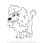 How to Draw Babette from Pound Puppies