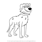 How to Draw Bony Doggins from Pound Puppies