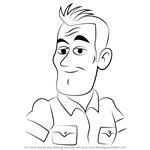 How to Draw Cap Wilder from Pound Puppies