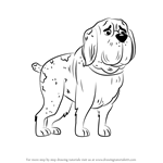 How to Draw Champ from Pound Puppies