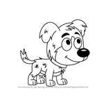 How to Draw Chief from Pound Puppies