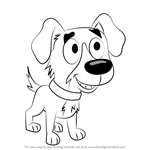 How to Draw Chip from Pound Puppies