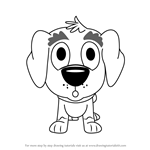 How to Draw Corky from Pound Puppies