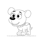 How to Draw Cupcake from Pound Puppies