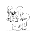 How to Draw Fifi from Pound Puppies