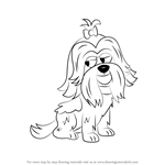How to Draw Foo Foo from Pound Puppies