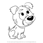 How to Draw Kiki from Pound Puppies