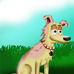 How to Draw Lucky from Pound Puppies