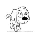 How to Draw McGuffin from Pound Puppies