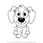 How to Draw Piper from Pound Puppies