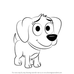 How to Draw Poopsie from Pound Puppies