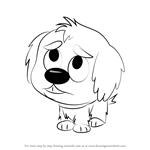 How to Draw Shaggles from Pound Puppies
