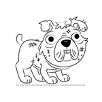 How to Draw Stuffy from Pound Puppies