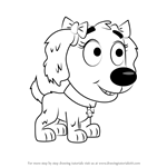 How to Draw Sweet Pea from Pound Puppies