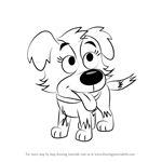 How to Draw Zipper from Pound Puppies