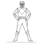 How to Draw Blue Ranger from Power Rangers