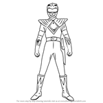 How to Draw Green Ranger from Power Rangers