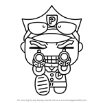 How to Draw Policeman Bruce from Pucca