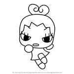 How to Draw Ring Ring from Pucca