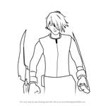 How to Draw Fox Alistair from RWBY