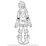 How to Draw Reese Chloris from RWBY