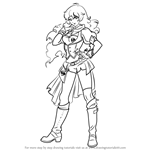 How to Draw Yang Xiao Long from RWBY